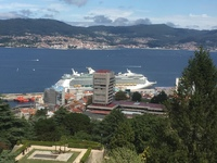 View of the ship in Vigo. Tours4cruisers trip again.