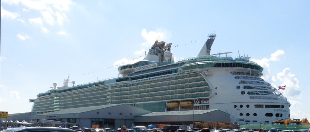 The Independence of the Seas in Southampton.