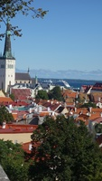A panoramic scene of Visby, Gotland Sweden