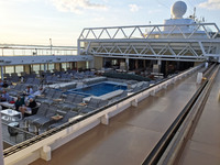 The main ship pool with the roof open