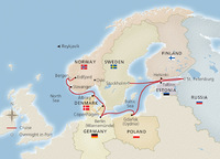 Viking Homelands Itinerary Map