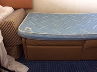 This is the mattress on the '3rd bed' I slept sitting up the whole