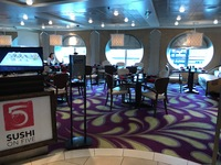 Celebrity Summit, Sushi on 5 restaurant.  You need to eat here!