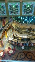 Looking down into the lobby on Carnival Liberty