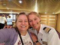 Me with Metka - an outstanding officer on the ship.  She remembered me from