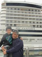 Me and my son on port of Genova