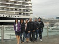 A part of my family on the port of Genova