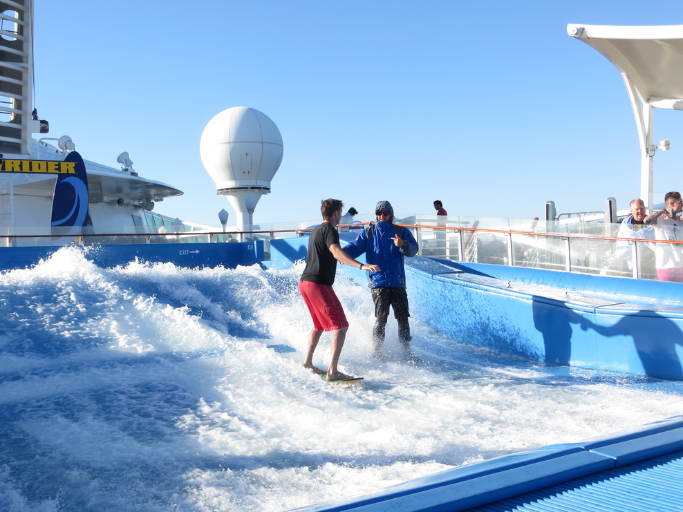 Flowrider was just great to sit and watch.