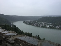 Rhine river from a castle toyr