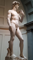 Michelangelo's marble statue of David in Florence