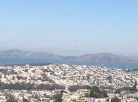 View of San Francisco from Twin Peaks!