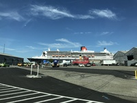 the QM2 in Brooklyn Cruise Terminal