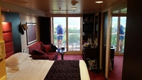 View of balcony stateroom while docked in Montego Bay, Jamaica - cabin 10108