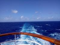 This is the view I enjoyed most every day while at sea aboard the Fantasy,