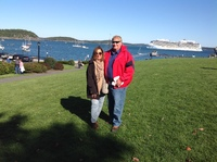 Beautiful park in front of the tenders, Bar Harbor