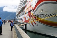 Norwegian Sun Docked At Skagway