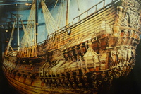 The Vasa a 17th Century Warship, Vasa Museum, Stockholm, Sweden.  Sank 40 m