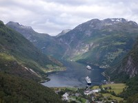 Geirangerfjord from Flydalsjuvet viewpoint