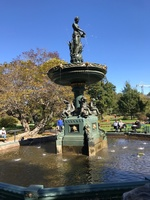 Fountain in the Public Gardens of St. John, NB, Canada