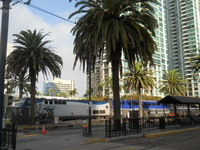 The Amtrak station is only 1 1/2 blocks from the ship. Grab a train to LAX
