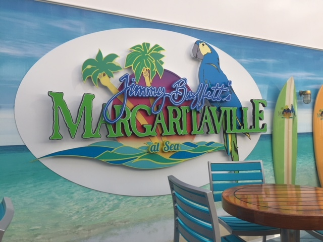 Margaritaville restaurant onboard the Escape