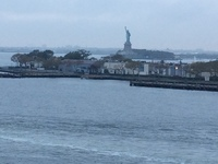 Lady Liberty and Ellis Island from our balcony.