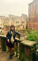 Enjoying the scenery at the Heidelberg castle in Germany