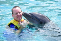 Our dolphin swim in Cozumel