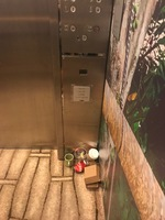 One of many lifts that were consistently filled with rubbish. This again br