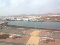 This is lanzarote when we were in port.