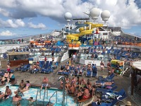 Lido deck...day at sea.