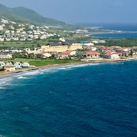 St. Kitts, on top of mountain looking down onto the Marriott.