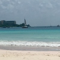 Boatyard beach in Bridgetown Barbados