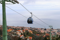 Cable cars running between Monte and the port of Funchal in Madeira