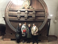 We were in the castle in Heidelberg trying to figure out how we could fit this barrel into our luggage