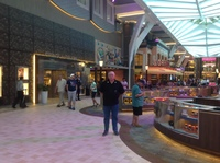 This is a picture of the walk through of the shops.