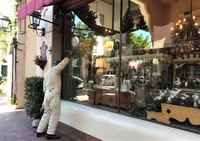 Street Art in Santa Barbara - the window cleaner!