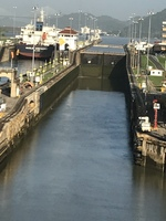 Panamá canal lock, wonder of the world