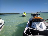 Jet Ski excursion with Guide in background