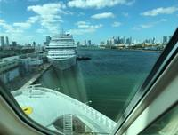 View of the forward facing window in Miami.