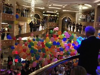 Last formal night when they released the balloons in atrium