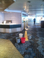 Water from ceiling in multiple places on Lido deck