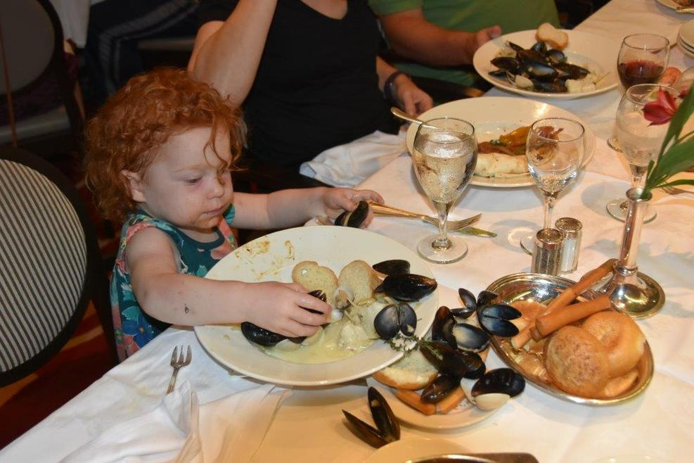 She loves mussels