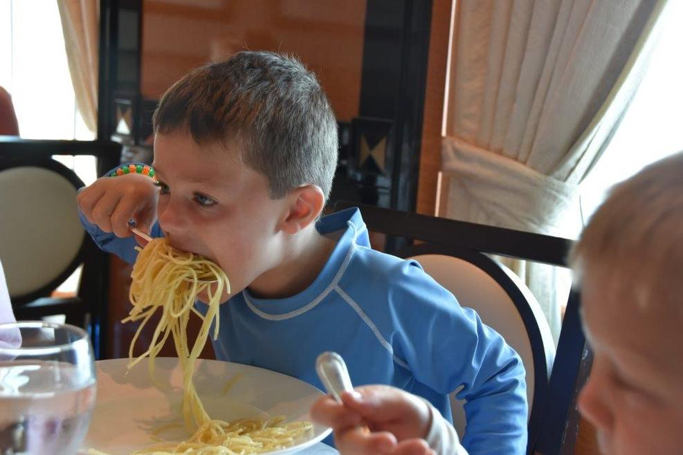 He loved the spaghetti