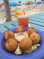 Conch fritters at The Whale