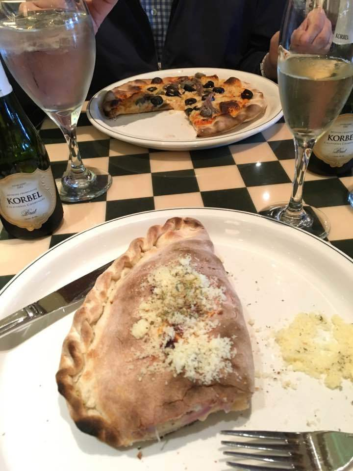 Calzone and pizza from Alfredo's.