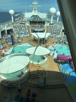 Ships pool area from the Viking crown lounge!