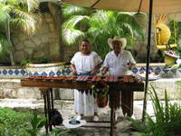 Marimba band at Pancho's Backyard, a great authentic Mexican restaurant