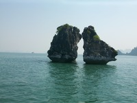 Kissing Cocks - rock formation (Halong Bay)