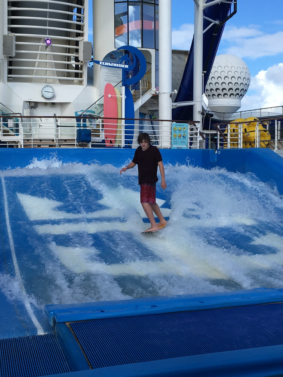 We had a blast on the Flow Rider!